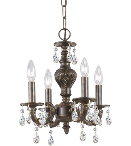 Crystorama Sutton 4 Light Mini Chandelier in Venetian Bronze 5024-VB-CL-SAQ photo