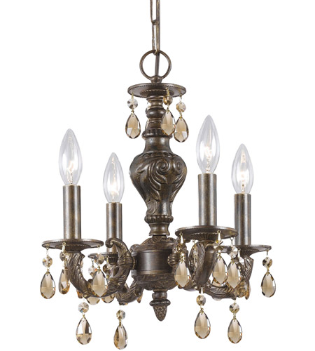 Crystorama Sutton 4 Light Mini Chandelier in Venetian Bronze 5024-VB-GTS photo
