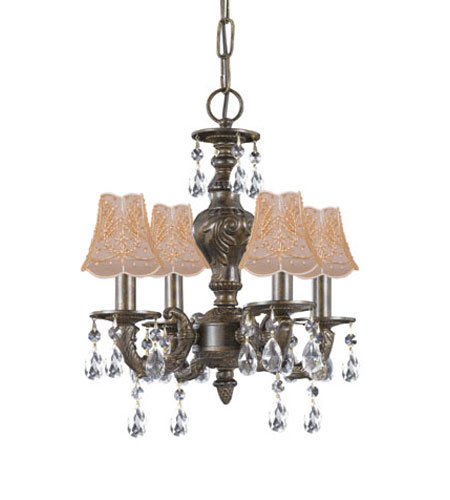 crystorama sutton 4 light mini chandelier in venetian bronze 5024 vb clm 1sh