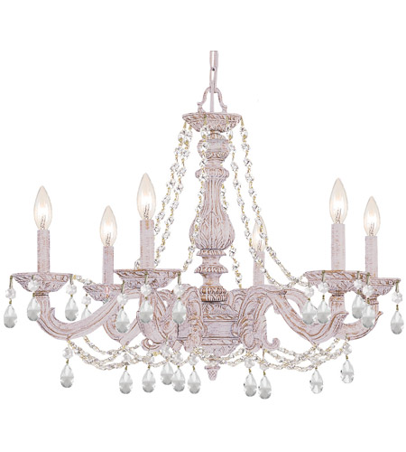 Crystorama Sutton 6 Light Chandelier in Antique White 5026-AW-CL-MWP photo