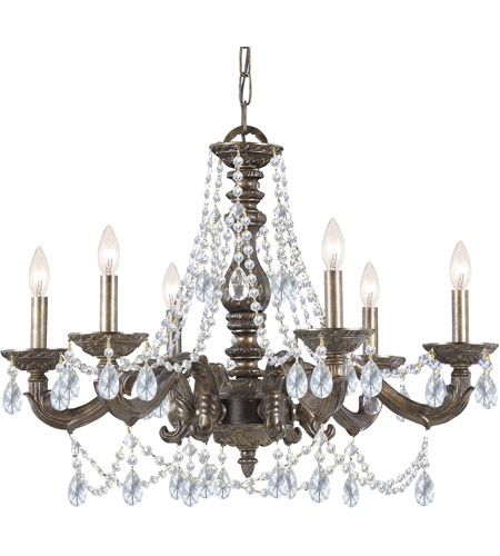 Crystorama 5026-VB-CL-MWP Paris Market 6 Light 28 inch Venetian Bronze Chandelier Ceiling Light in Venetian Bronze (VB), Clear Hand Cut photo