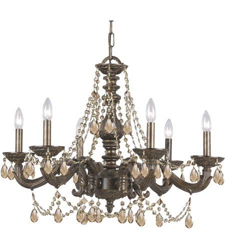 Crystorama Sutton 6 Light Chandelier in Venetian Bronze 5026-VB-GTS photo