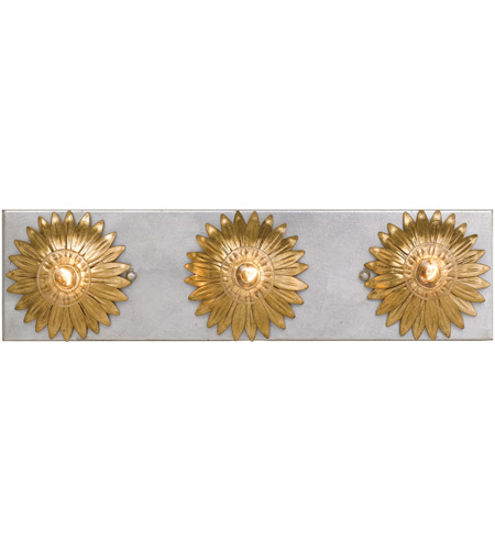 Crystorama 503-GA-SA Broche 3 Light 18 inch Antique Gold and Antique Silver Bathroom Vanity Wall Light photo