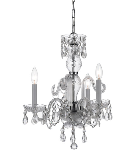 Crystorama Lighting Hot Deal 3 Light Mini Chandelier in Polished Chrome and Italian Crystal 5044-CH-CL-I photo