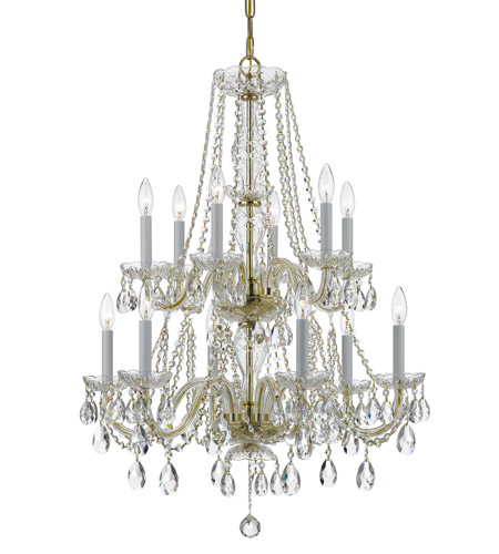 Crystorama Traditional Crystal Chandelier in Polished Brass 5047-PB-CL-S photo