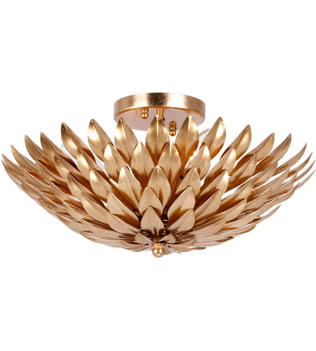Crystorama 505-GA Broche 4 Light 16 inch Antique Gold Semi Flush Mount Ceiling Light in Antique Gold (GA) photo