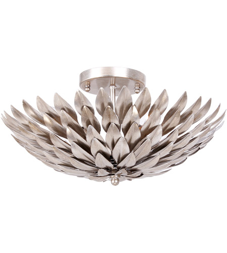 Crystorama 505-SA Broche 4 Light 16 inch Antique Silver Semi Flush Mount Ceiling Light in Antique Silver (SA) photo
