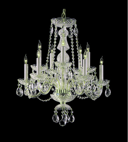 Crystorama Traditional Crystal 10 Light Chandelier in Polished Chrome 5050-CH-CL-SAQ photo