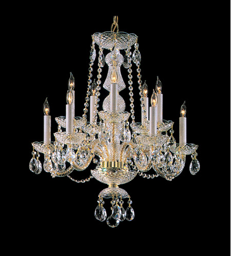 Crystorama Traditional Crystal 10 Light Chandelier in Polished Brass 5050-PB-CL-SAQ photo