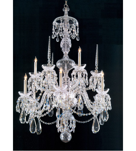 Crystorama 5070-CH-CL-MWP Traditional Crystal 9 Light 34 inch Chrome Chandelier Ceiling Light photo