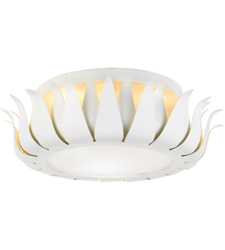 Crystorama 510-MT Broche 3 Light 16 inch Matte White Flush Mount Ceiling Light photo