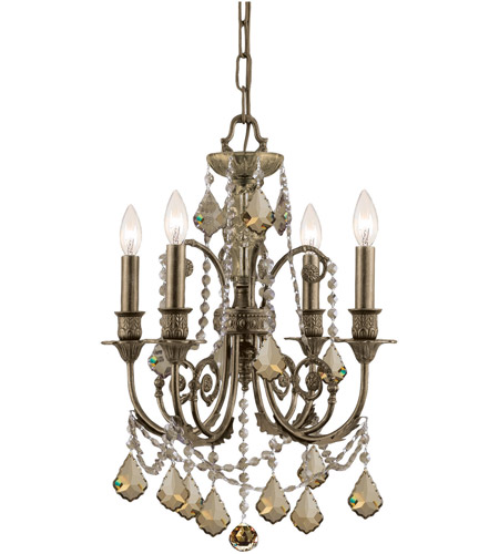 Crystorama 5114-EB-GTS Regis 4 Light 18 inch English Bronze Mini Chandelier Ceiling Light photo