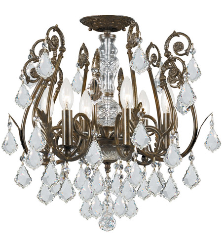 Crystorama Regis 6 Light Semi Flush Mount in English Bronze, Swarovski Elements 5115-EB-CL-S photo