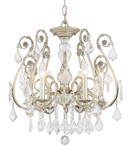 Crystorama 5115-OS-CL-MWP Regis 6 Light 20 inch Olde Silver Semi Flush Mount Ceiling Light in Hand Cut, Olde Silver (OS) photo