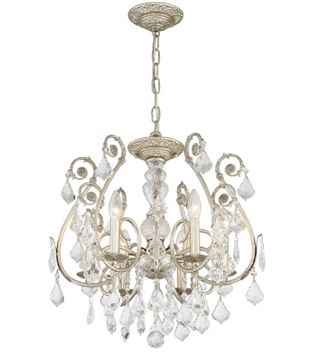 Crystorama 5115-OS-CL-S Regis 6 Light 20 inch Olde Silver Semi Flush Mount Ceiling Light in Olde Silver (OS), Clear Swarovski Strass photo