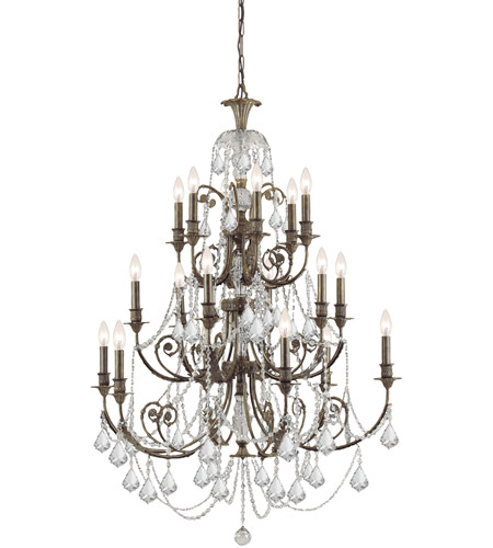 Crystorama 5117-EB-CL-SAQ Regis 18 Light 37 inch English Bronze Chandelier Ceiling Light in Swarovski Spectra (SAQ) photo