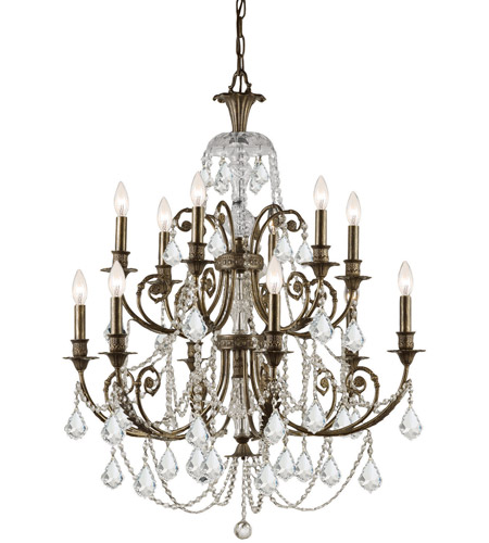 Crystorama Regis 12 Light Chandelier in English Bronze 5119-EB-CL-MWP photo