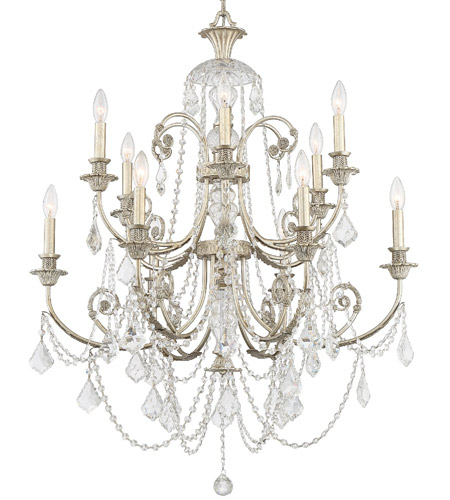 Crystorama Regis 6 Light Chandelier in Olde Silver 5119-OS-CL-SAQ photo