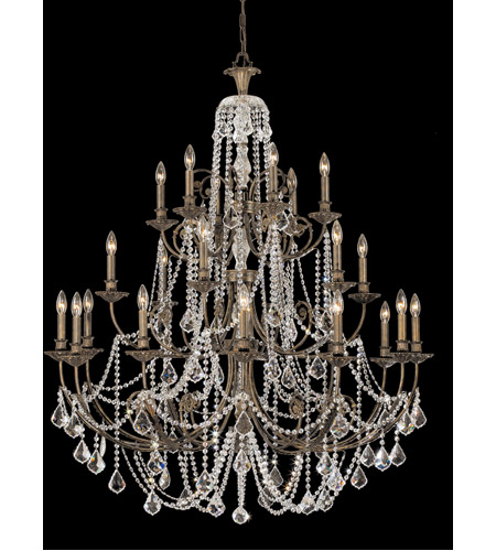 Crystorama 5120-EB-CL-S Regis 24 Light 48 inch English Bronze Chandelier Ceiling Light in Clear Swarovski Strass photo