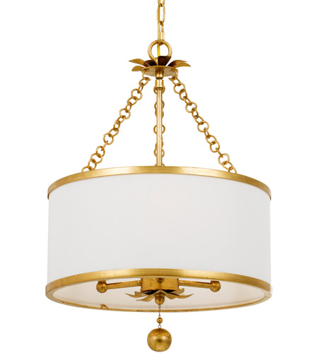 Crystorama 513-GA Broche 3 Light 14 inch Antique Gold Chandelier Ceiling Light in Antique Gold (GA) photo