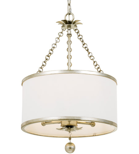 Crystorama 513-SA Broche 3 Light 14 inch Antique Silver Chandelier Ceiling Light in Antique Silver (SA) photo