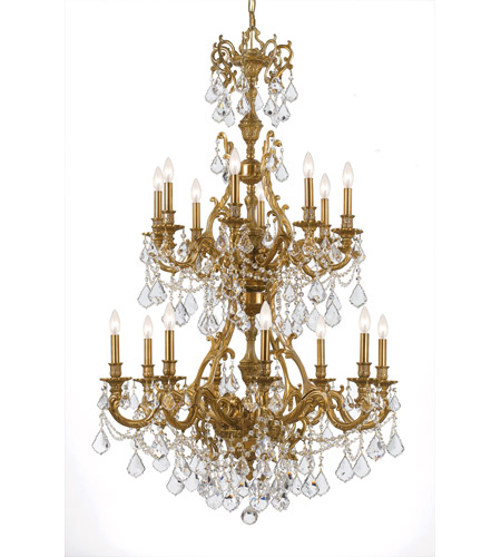 Crystorama Yorkshire 16 Light Chandelier in Aged Brass 5140-AG-CL-S photo