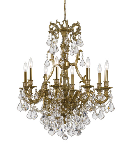 Crystorama 5148-AG-CL-S Yorkshire 8 Light 26 inch Aged Brass Chandelier Ceiling Light in Clear Crystal (CL), Swarovski Elements (S) photo
