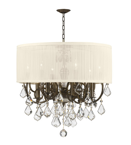 Crystorama Brentwood 6 Light Chandelier in English Bronze 5155-EB-SAW-CLM photo