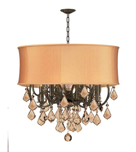 Crystorama Brentwood 6 Light Chandelier in English Bronze 5155-EB-SHG-GTS photo