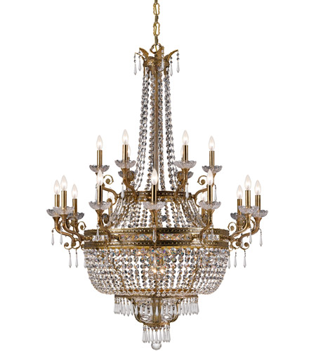 Crystorama Regal 27 Light Chandelier in Aged Brass 5159-AG-CL-MWP photo
