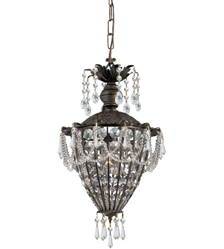 Crystorama 5161-EB-CL-MWP Vanderbilt 1 Light 10 inch English Bronze Pendant Ceiling Light in Clear Crystal (CL), Hand Cut, English Bronze (EB) photo