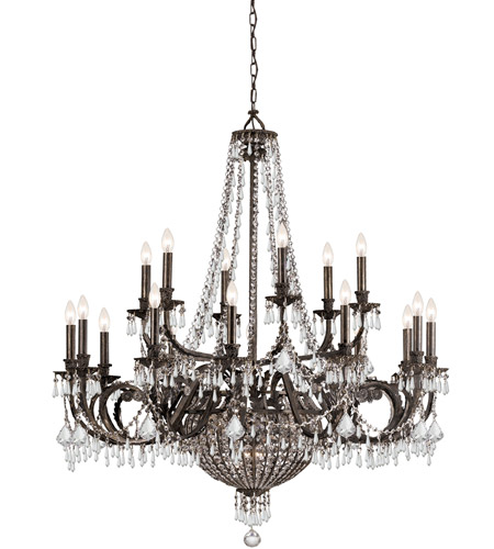 Crystorama 5169-EB-CL-MWP Vanderbilt 23 Light 44 inch English Bronze Chandelier Ceiling Light photo