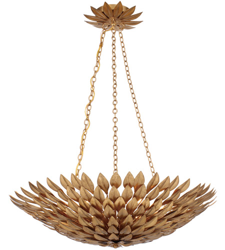 Crystorama 517-GA Broche 6 Light 25 inch Antique Gold Chandelier Ceiling Light in Antique Gold (GA), 24-in Width photo