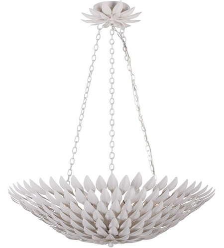 Crystorama 517-MT Broche 6 Light 25 inch Matte White Chandelier Ceiling Light in Matte White (MT), 26.5-in Width photo
