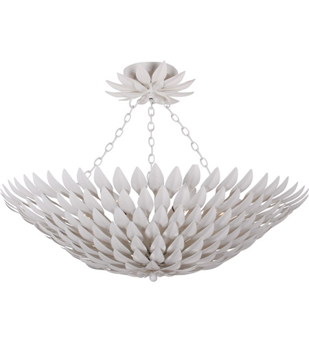 Crystorama 517-MT_CEILING Broche 6 Light 25 inch Matte White Pendant Ceiling Light in Matte White (MT), 26.5-in Width photo