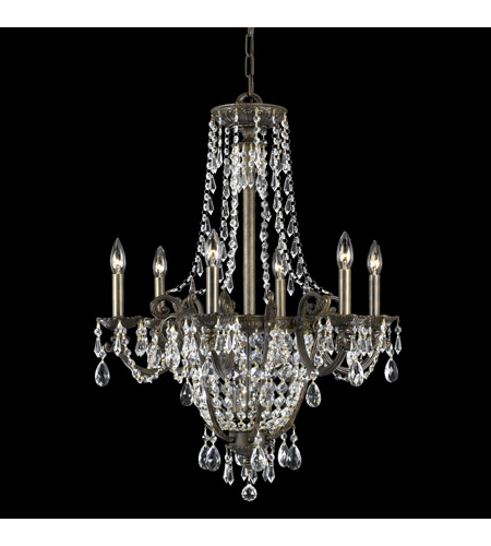Crystorama Lighting Manchester 9 Light Chandelier In English Bronze Swaroski Str Clear 5186 Eb Cl S