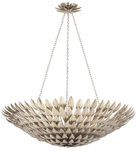 Crystorama 519-SA Broche 8 Light 30 inch Antique Silver Chandelier Ceiling Light in Antique Silver (SA) photo