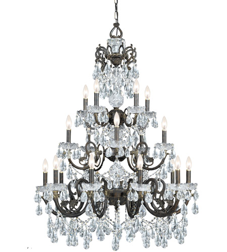 Crystorama 5190-EB-CL-MWP Legacy 20 Light 35 inch English Bronze Chandelier Ceiling Light in Hand Cut photo