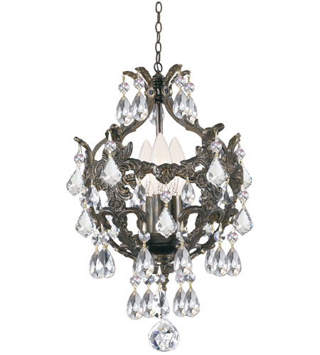 Crystorama Legacy 3 Light Mini Chandelier in English Bronze 5193-EB-CL-MWP photo