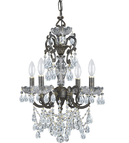 Crystorama 5194-EB-CL-S Legacy 4 Light 15 inch English Bronze Mini Chandelier Ceiling Light in Clear Swarovski Strass photo