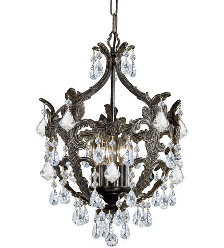 Crystorama Legacy 5 Light Mini Chandelier in English Bronze 5195-EB-CL-MWP photo
