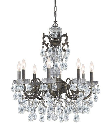 Crystorama Legacy 8 Light Chandelier in English Bronze 5198-EB-CL-MWP photo