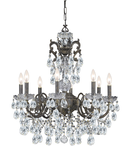 Crystorama Legacy 8 Light Chandelier in English Bronze, Swarovski Elements 5198-EB-CL-S photo