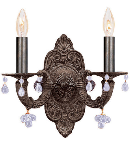 Crystorama Sutton 2 Light Wall Sconce in Venetian Bronze 5200-VB-CLEAR photo