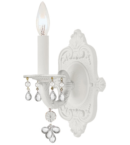 Crystorama 5201-WW-CLEAR Paris Market 1 Light 6 inch Wet White Wall Sconce Wall Light photo