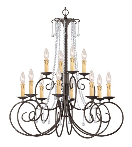 Crystorama 5212-DR-CL-SAQ SOHO 12 Light 32 inch Dark Rust Chandelier Ceiling Light in Swarovski Spectra (SAQ) photo