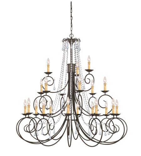Crystorama SOHO 21 Light Chandelier in Dark Rust, Swarovski Spectra 5219-DR-CL-SAQ photo