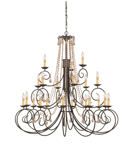Crystorama SOHO 21 Light Chandelier in Dark Rust 5219-DR-GT-MWP photo