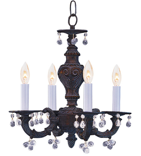 Crystorama 5224-VB-CLEAR Paris Market 4 Light 14 inch Venetian Bronze Mini Chandelier Ceiling Light photo