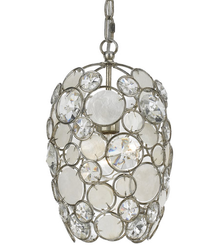 Crystorama 523-SA Palla 1 Light 9 inch Antique Silver Mini Chandelier Ceiling Light photo